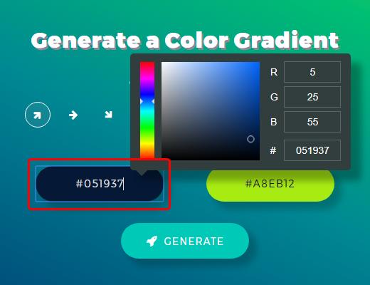 Enter colors
