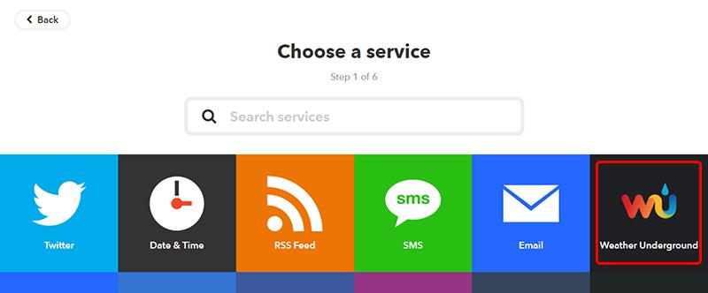 Choose a service