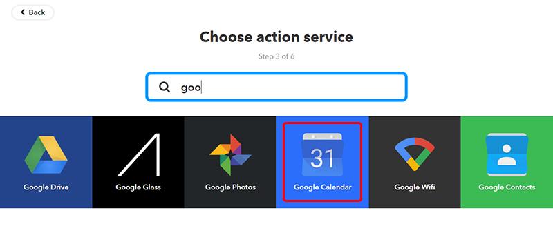 Choose action service