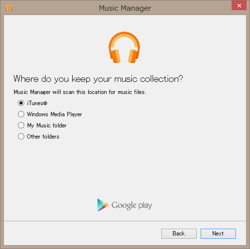 iTunesを選択