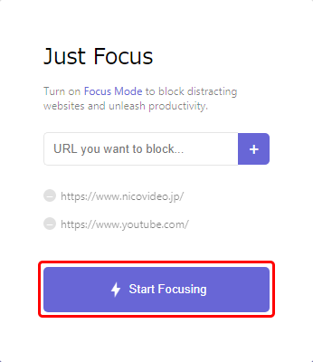 Start Focusing