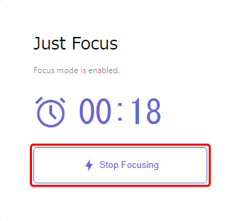 Stop Focusing