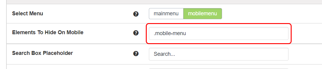 Elements To Hide On Mobile
