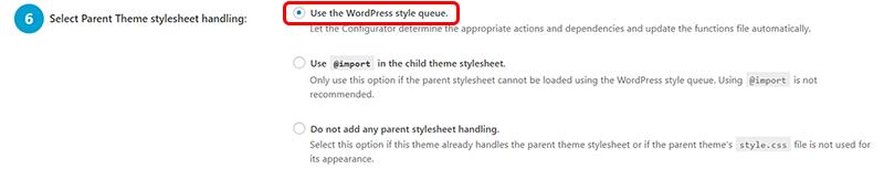 Select Parent Theme stylesheet handling